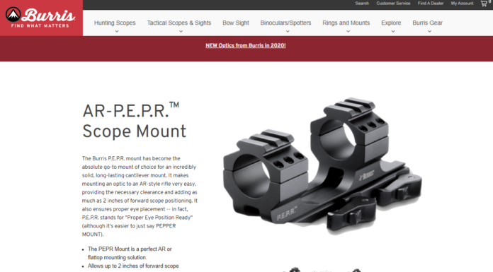 Burris AR-P.E.P.R. 30mm One Piece Quick Detach Scope Mount Review