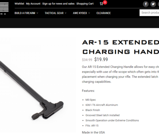 American Weapons Components: AR-15 Extended Charging Handle Review