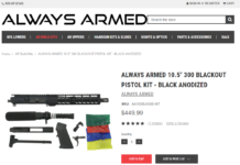 "ALWAYS ARMED 10.5"" 300 Blackout Pistol Kit"