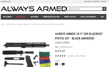 "ALWAYS ARMED 10.5"" 300 Blackout Pistol Kit"