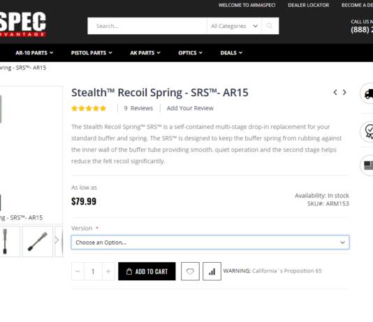 Stealth™ Recoil Spring - SRS™- AR15